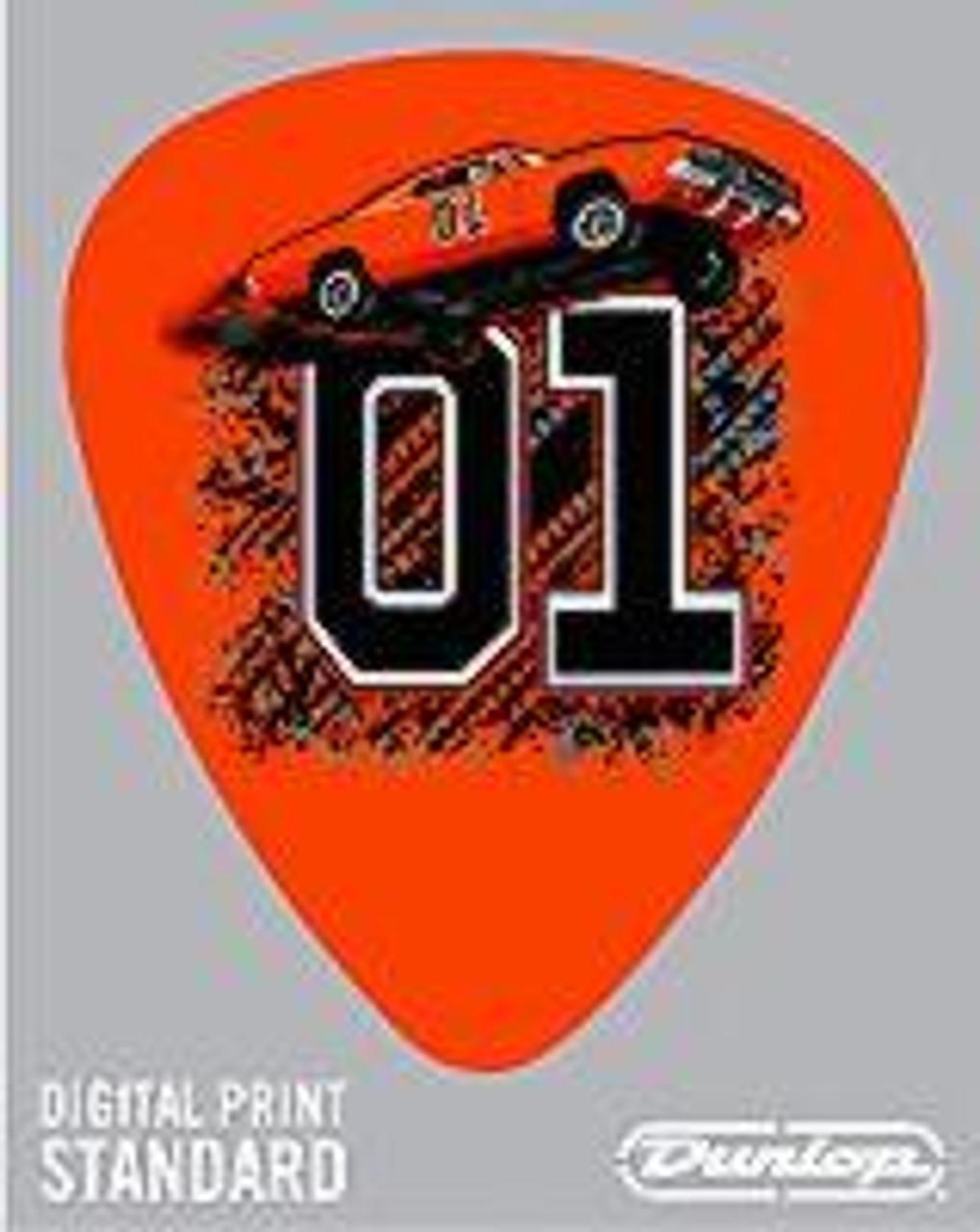 Guitar Pick General Lee Jumping 01