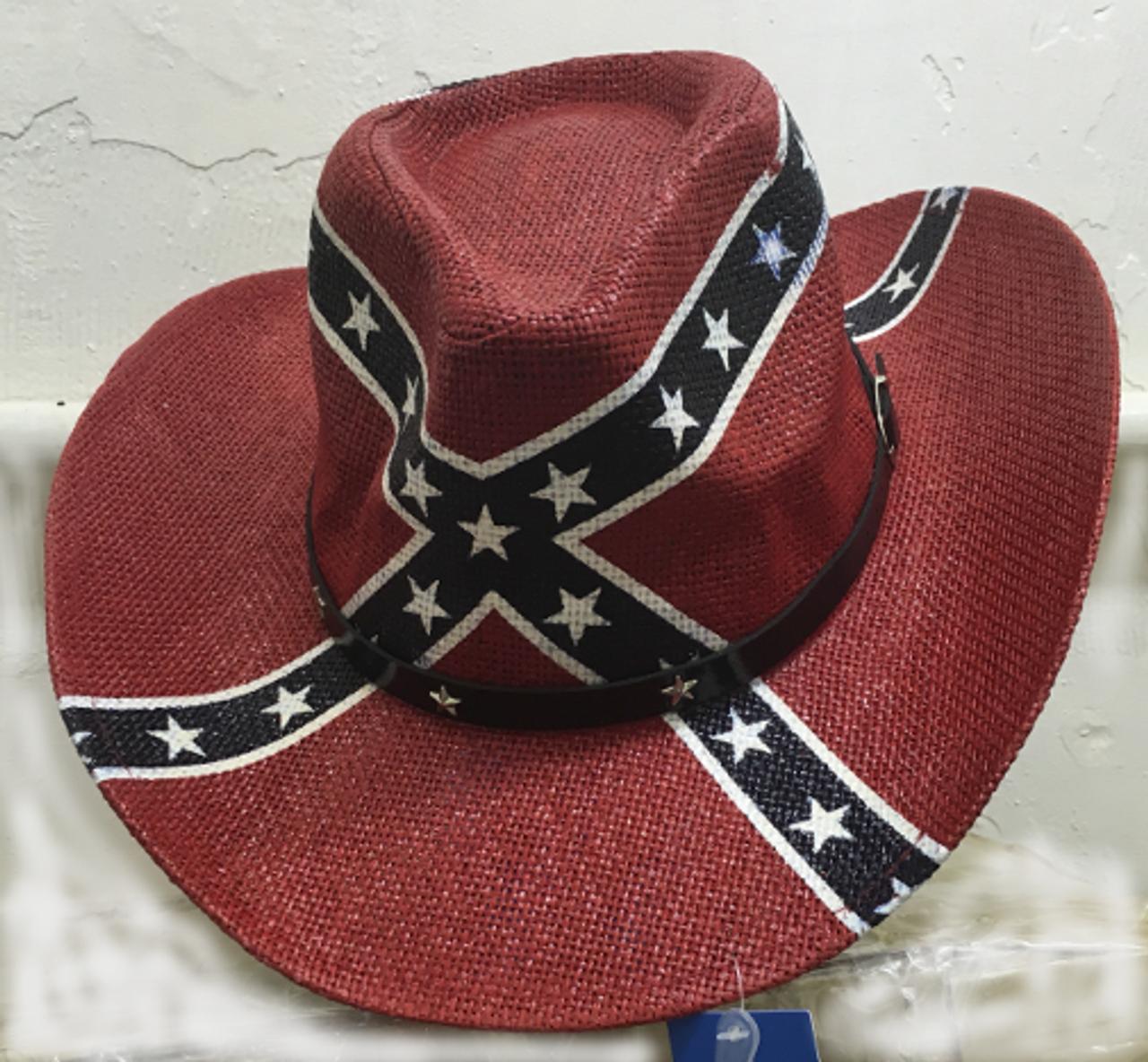 Confederate Flag Cowboy Hat