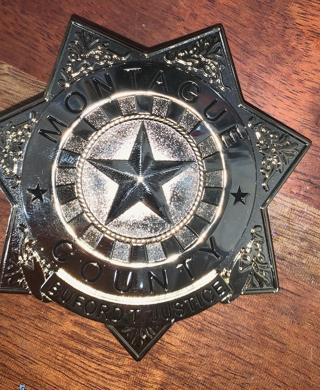 """Buford T Justice """"Smokey & the Bandit"""" Prop Replica Badge"""
