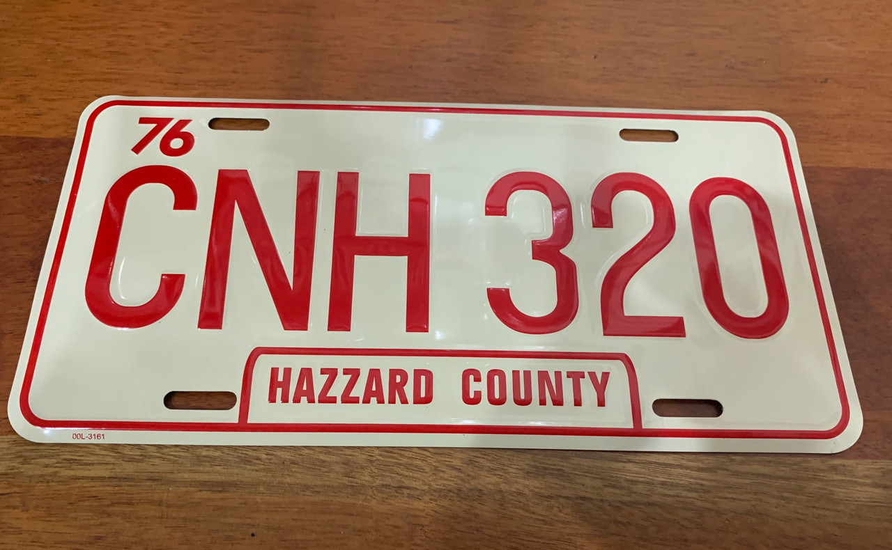 CNH 320 License Plate (General Lee Plate)