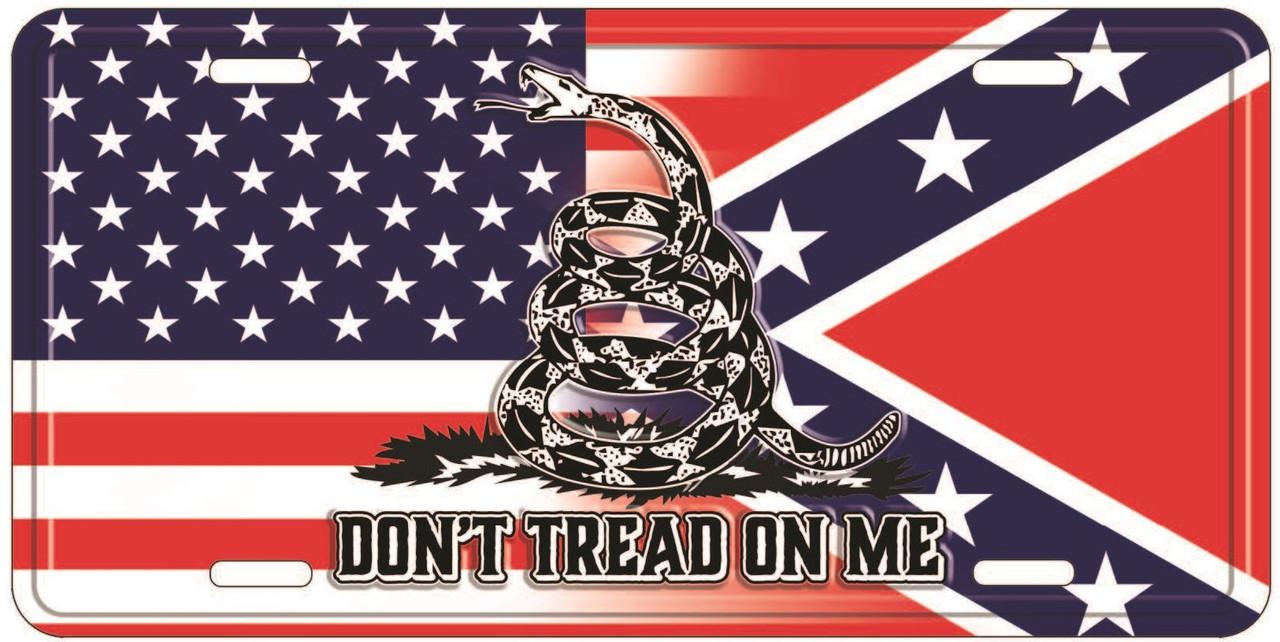 Gadsden USA Blend Confederate License Plate