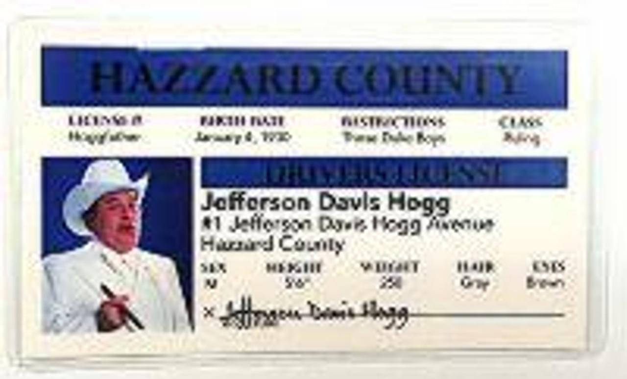 """Boss Hogg"" Novelty Driver License"