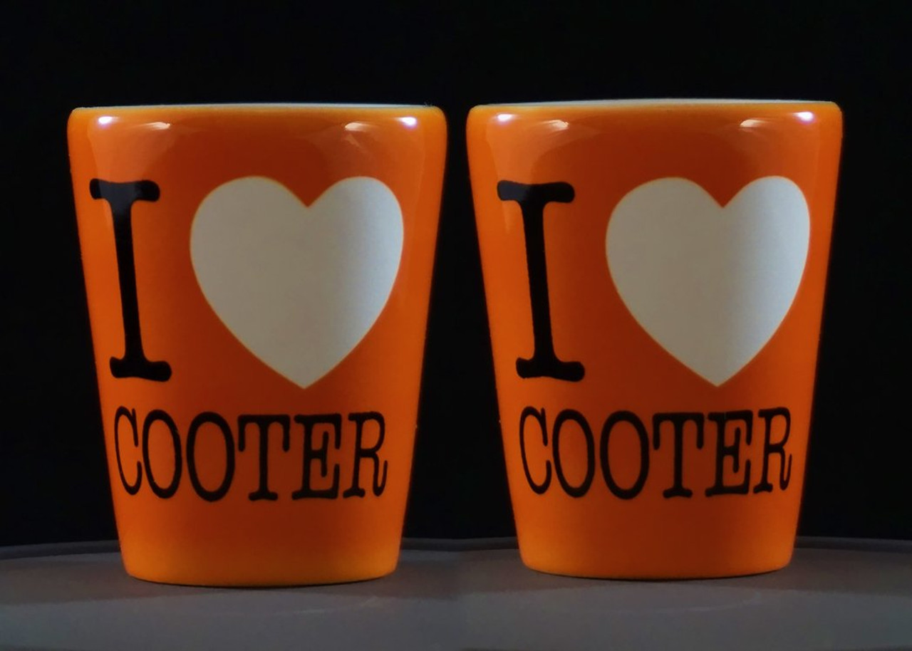 I Heart Cooter Shot Glass