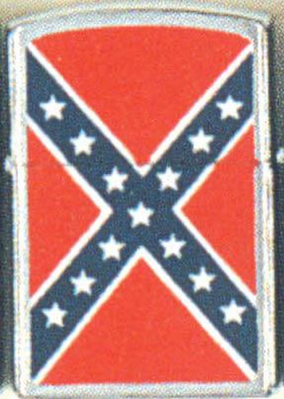 CONFEDERATE FLAG LIGHTER (SILVER)