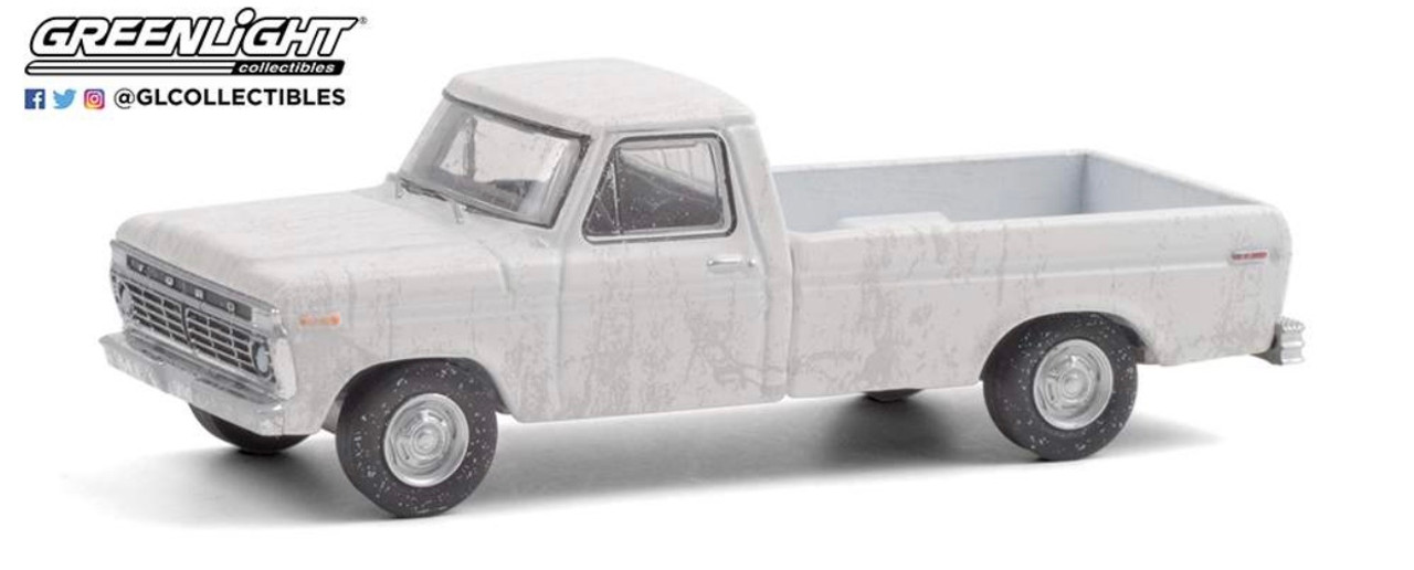 """1:64 1973 Ford F-100 Pickup Truck """"Uncle Jesse"""" (White - Weathered)"""