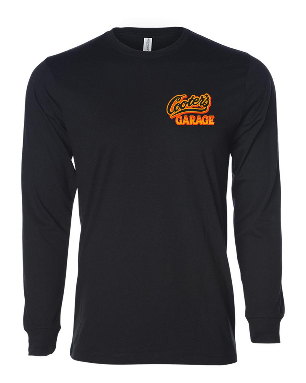 Cars of Hazzard Long Sleeve T-Shirt Black Front