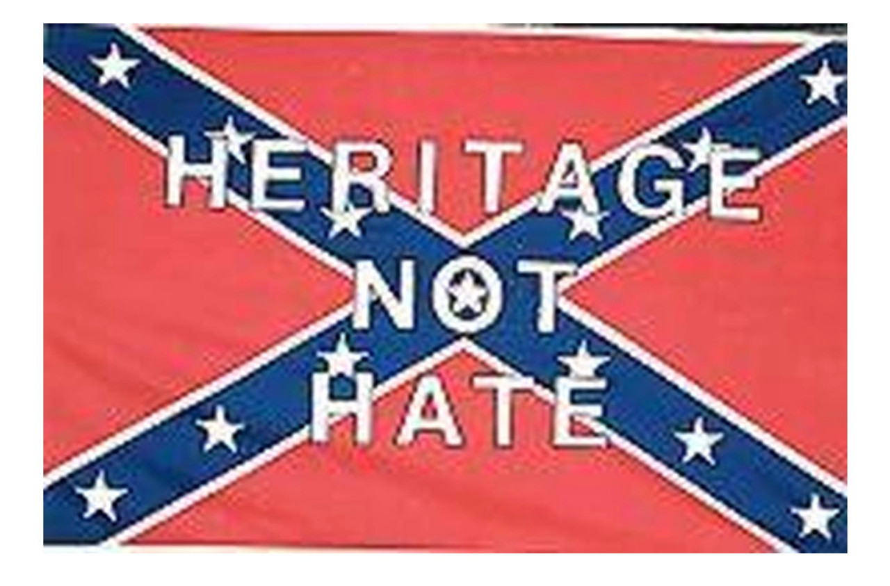 Heritage Not Hate - Confederate Flag 3x5 Polyester