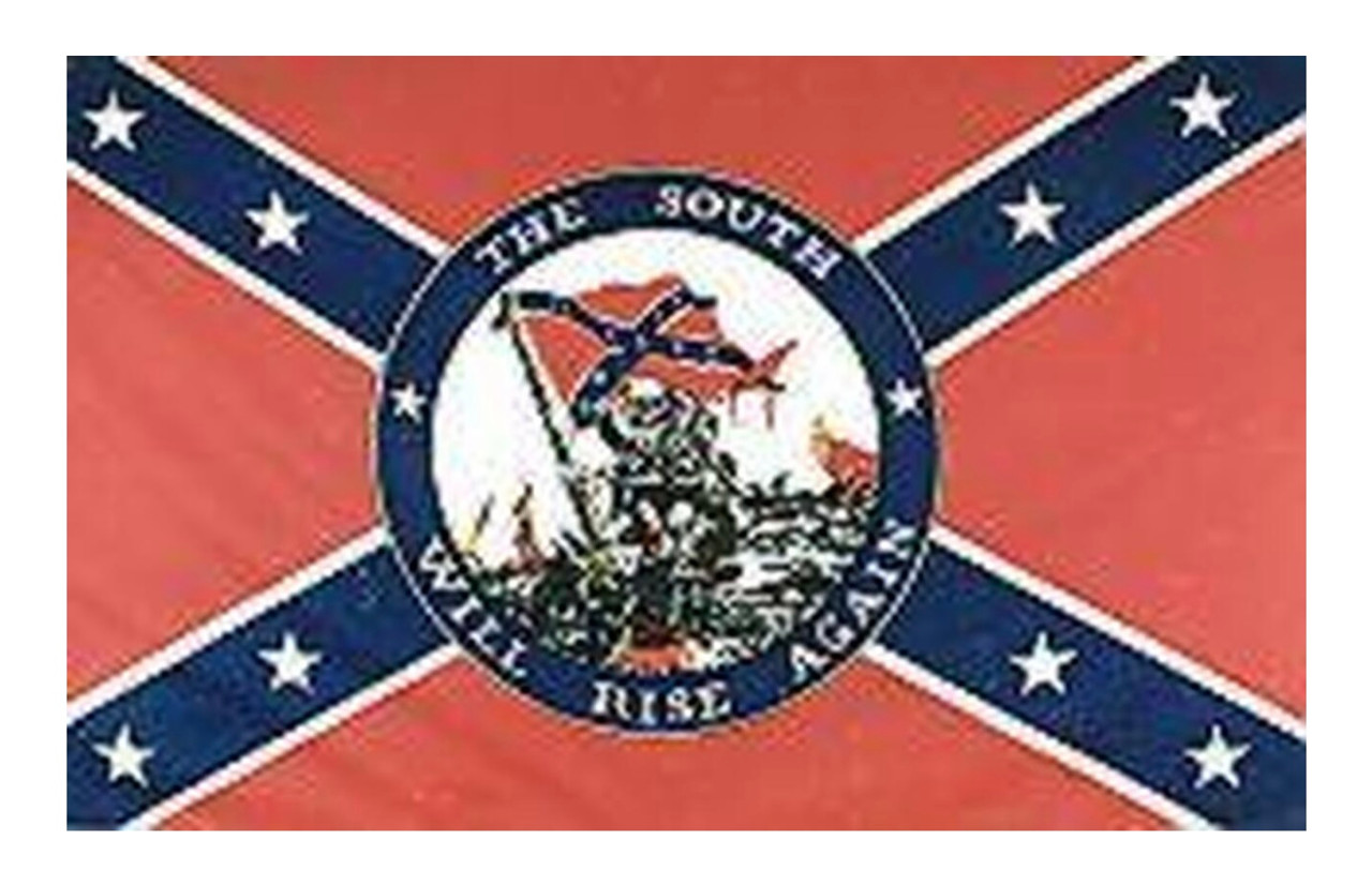 South Will Rise Again - Confederate Flag 3x5 Polyester