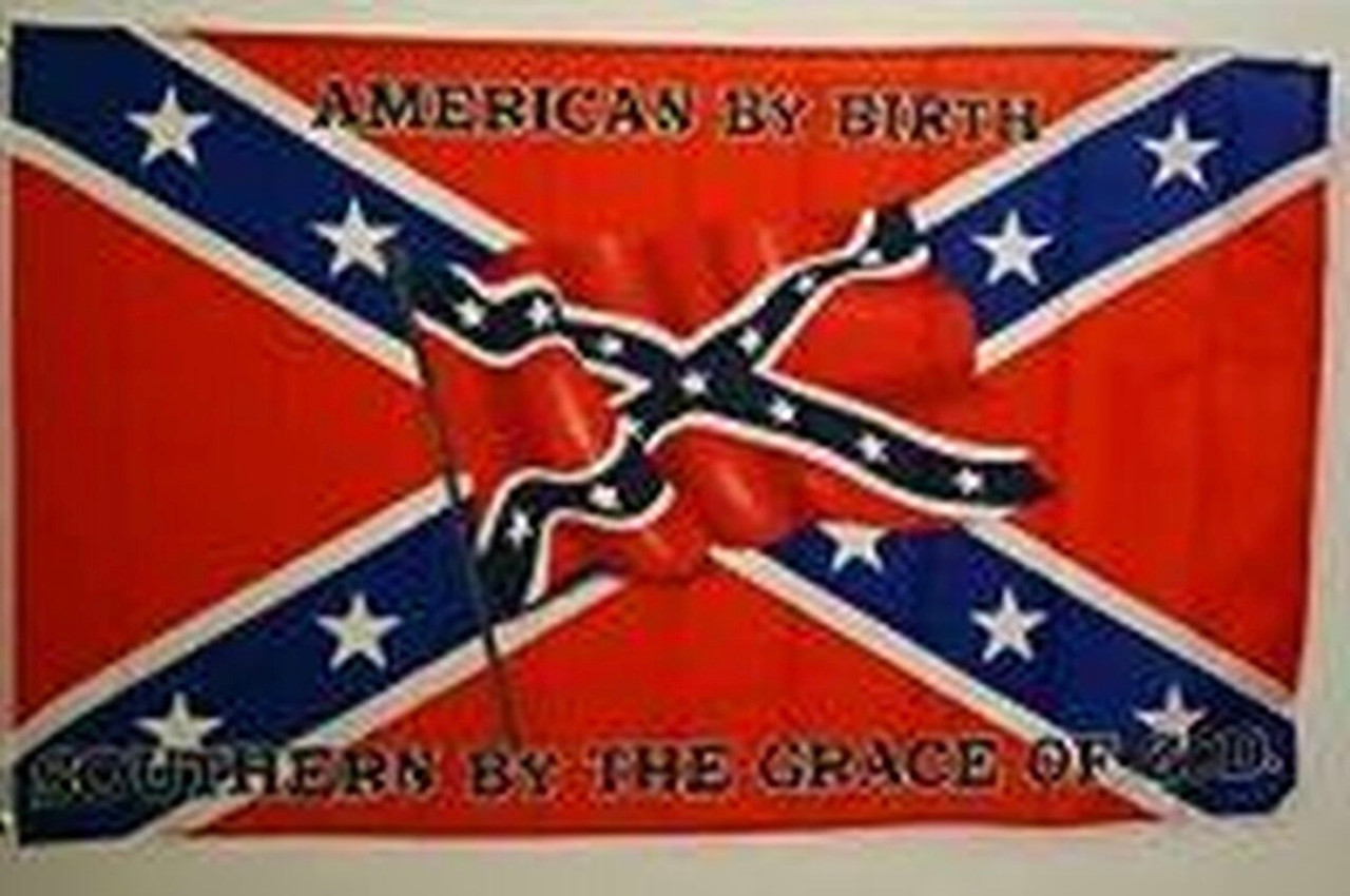American By Birth - Rebel Flag 3x5 Polyester