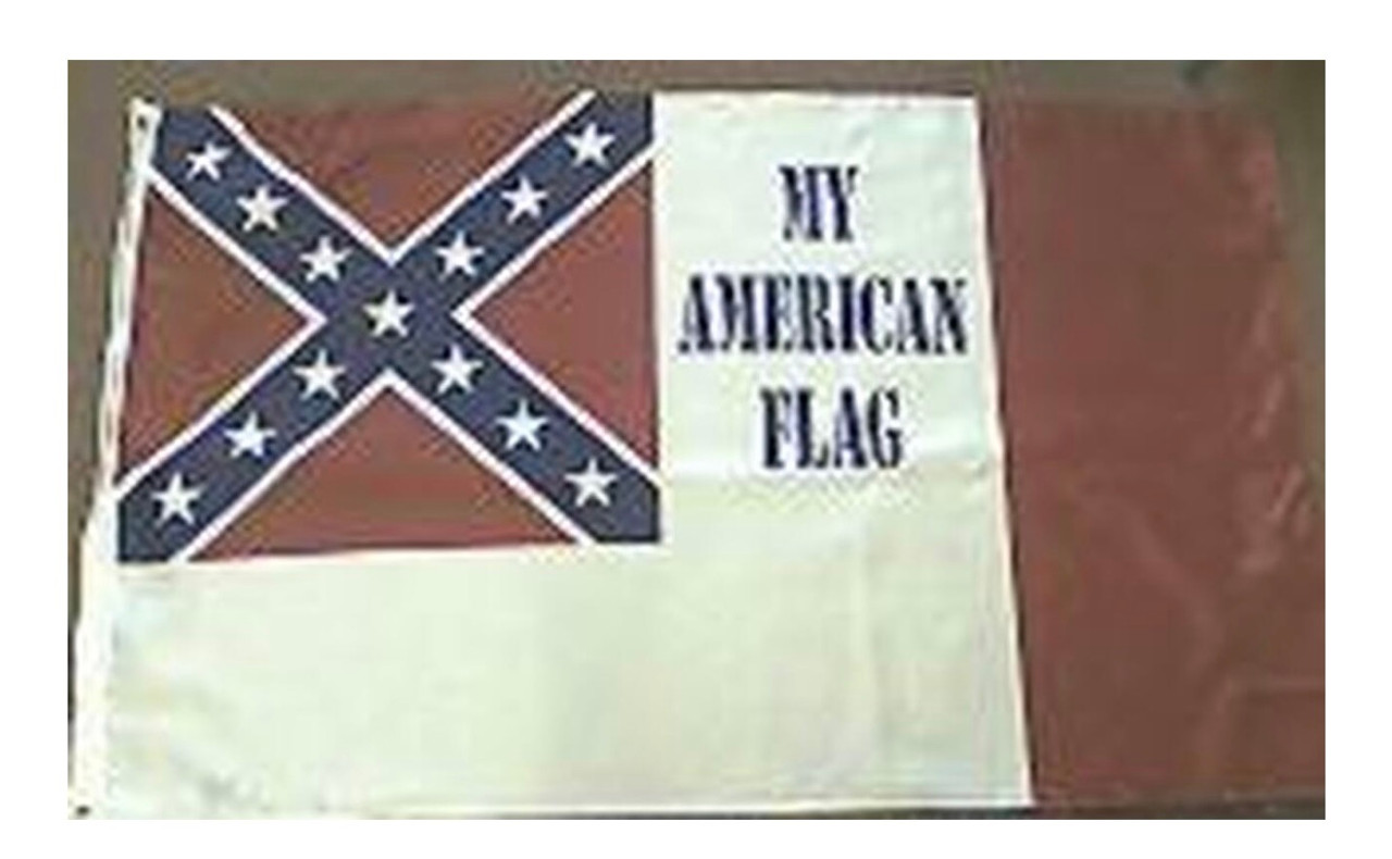 My American Flag  - Rebel Flag 3x5 Polyester