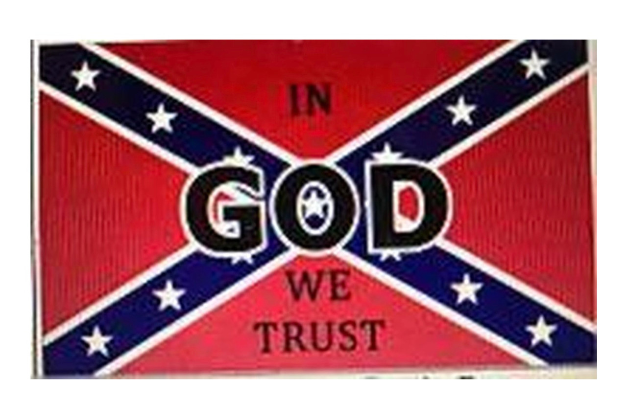 In God We Trust - Rebel Flag 3x5 Polyester