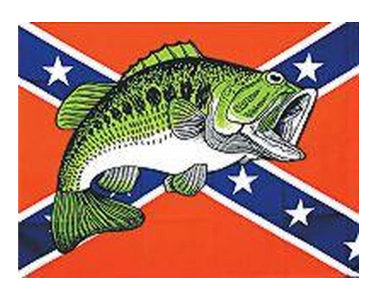 Fish - Confederate Flag 3x5 Polyester