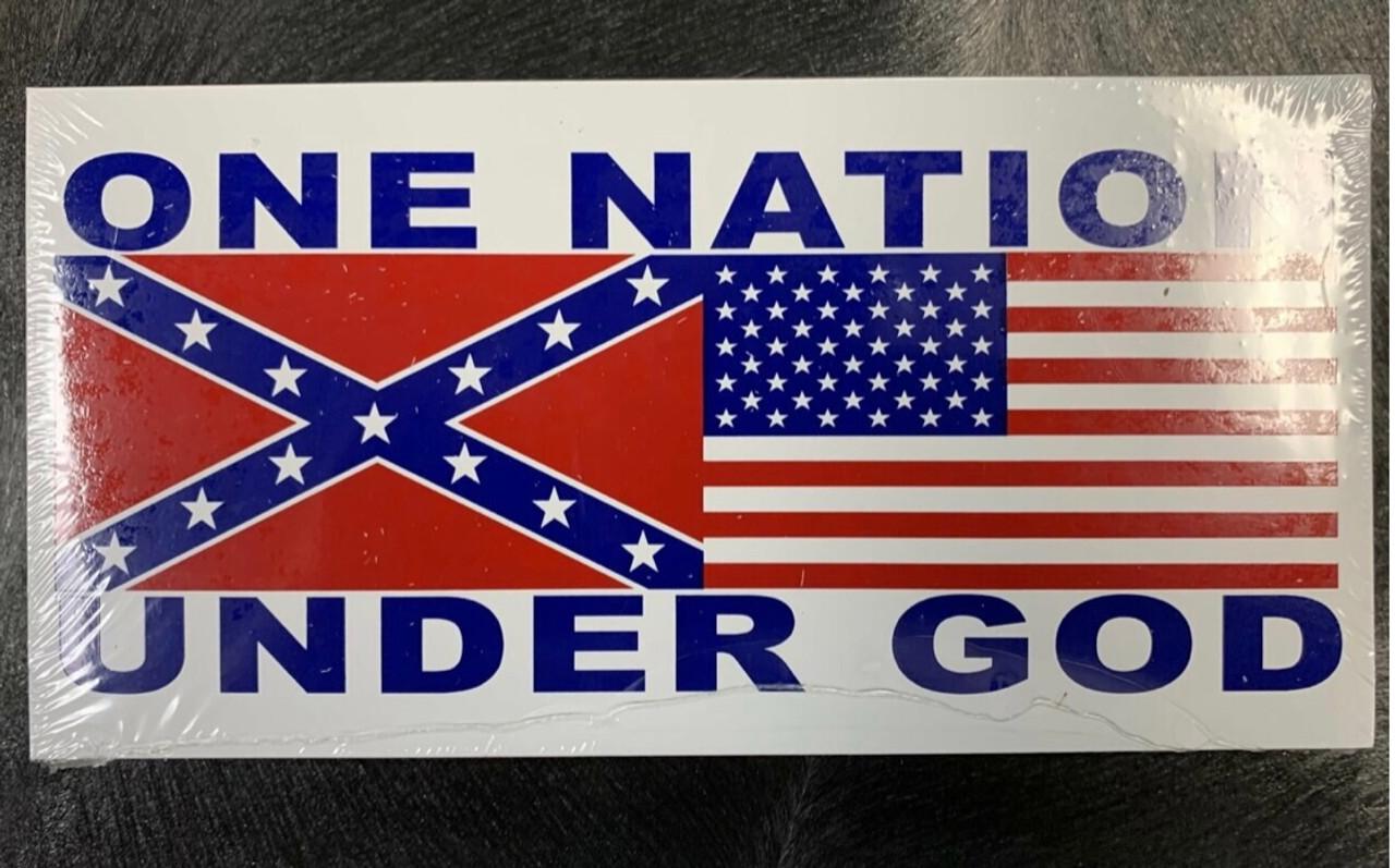One Nation Under God Rebel/USA Bumper Sticker