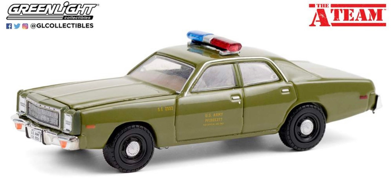 """1:64 Hollywood Special Edition """"The A-Team (TV Series)"""" 1977 Plymouth Fury """"U.S. Army Police"""""""