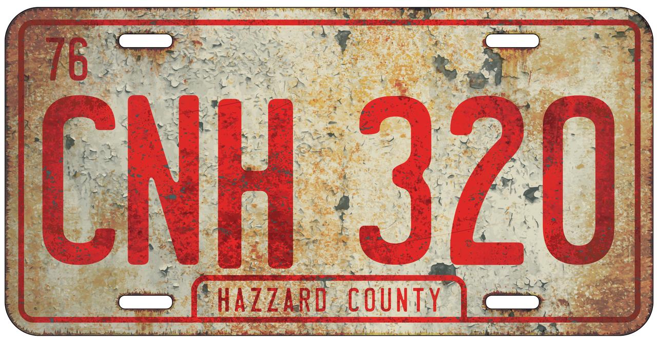 Rustic CNH 320 License Plate (General Lee Plate)