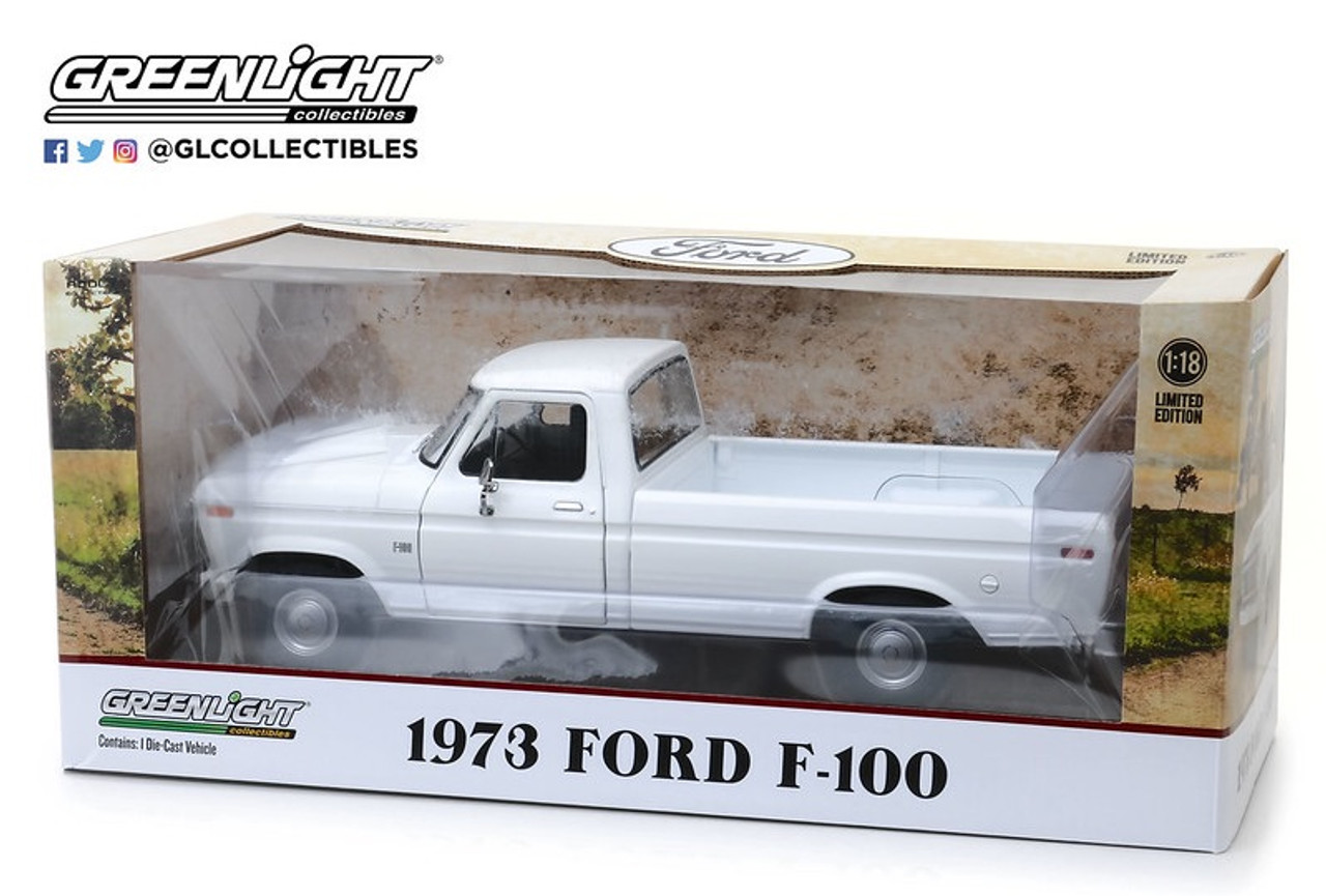 "Pre-Order 1:18 1973 Ford F-100 - White ""Uncle Jesse Truck"""