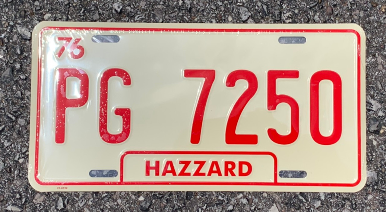 PG-7250 Cooter's Brown Tow Truck License Plate
