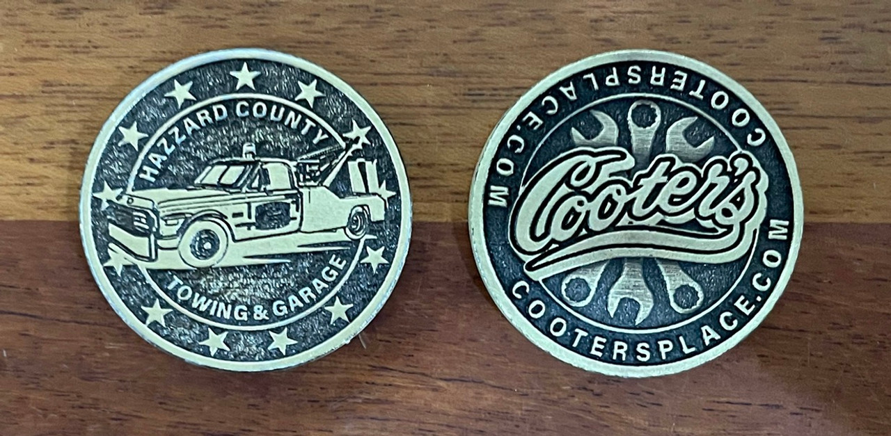 Cooter's Tow Truck Collector Coin