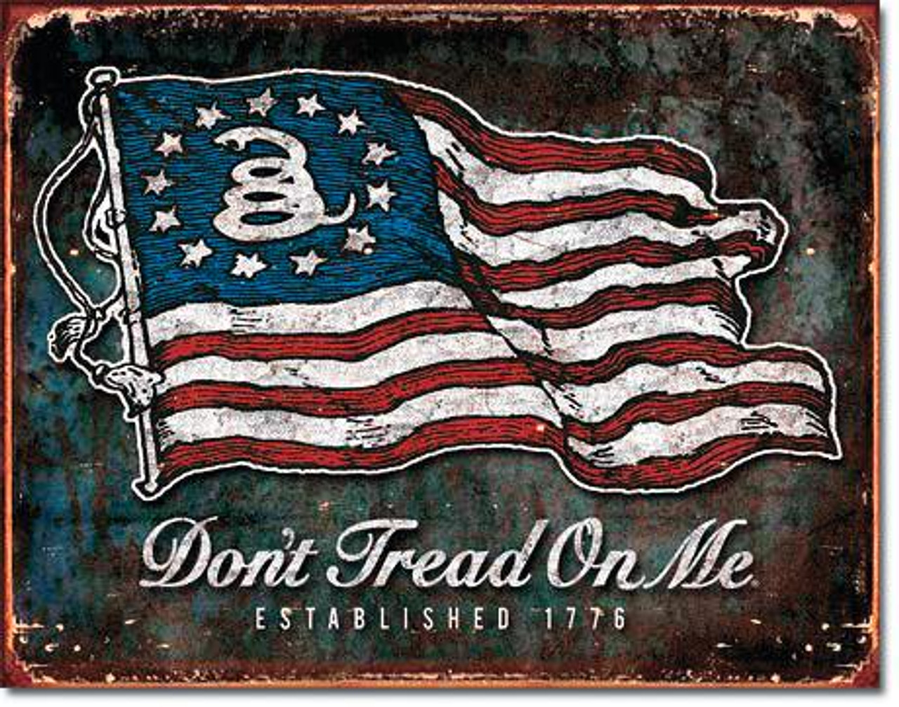 Don't Tread On Me 1776 Metal Sign (16 X 12.5)