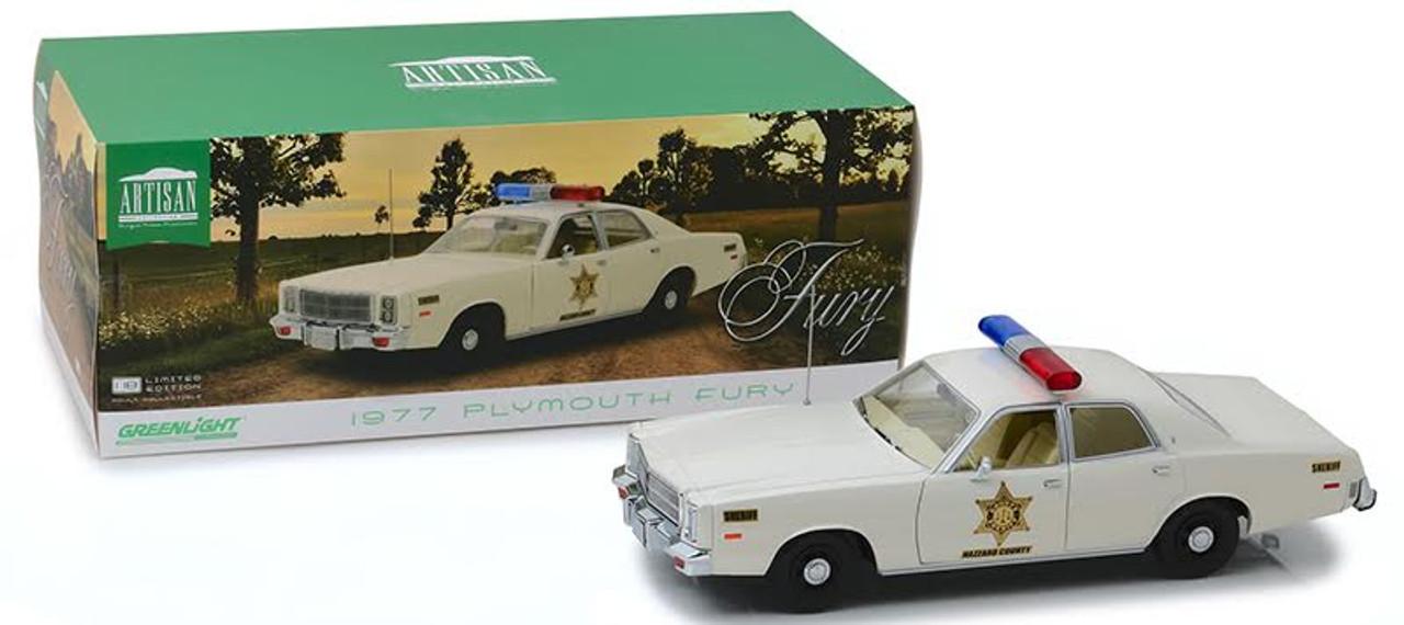 1:18 Hazzard County Sheriff Car Artisan Collection - 1977 Plymouth Fury