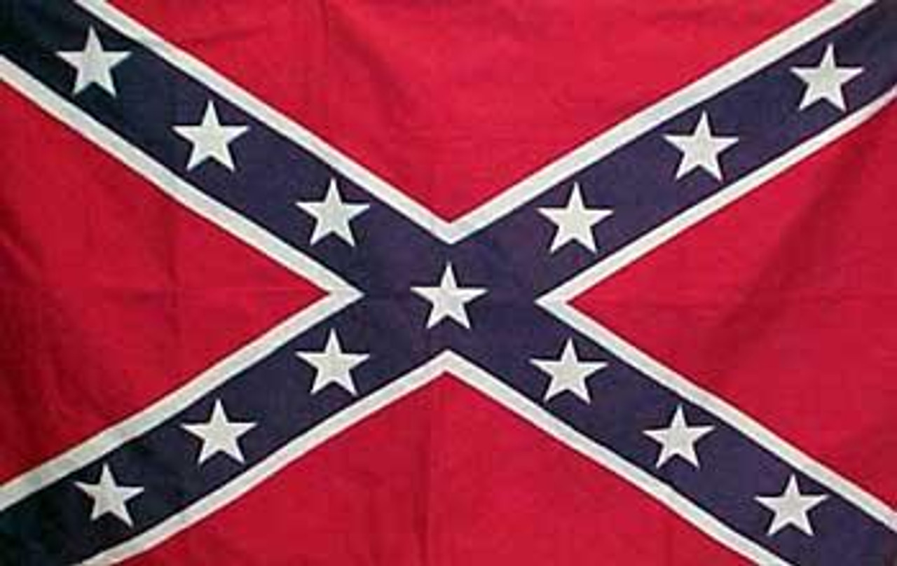 Confederate Flag Embroidered