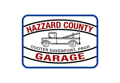 Hazzard County Garage Iron On  Patch