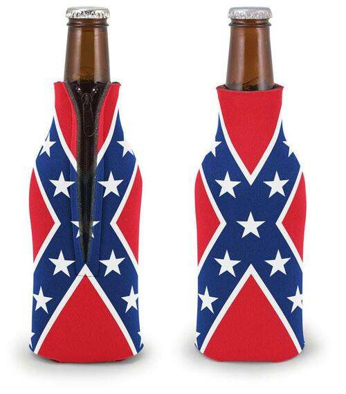 Rebel Flag Bottle Coolie