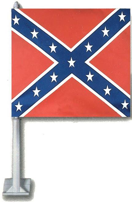Car Window Flag Confederate
