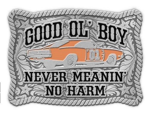 General Lee Never Meaning No Harm Belt Buckle