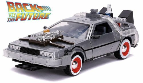 1:24 Back to the Future III (1990) - DeLorean Time Machine w/Lights