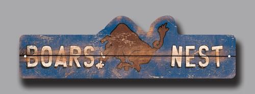 Boars Nest Wooden Street Sign