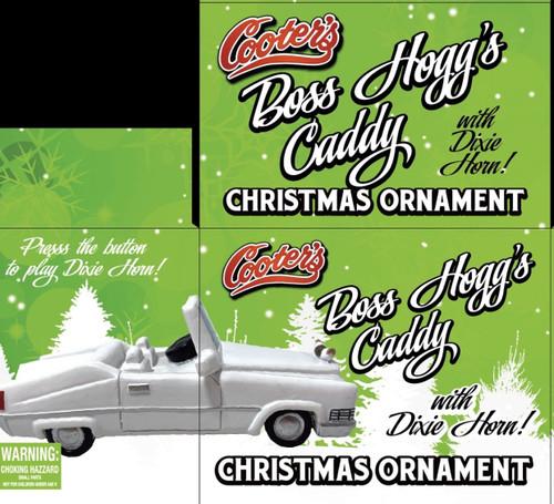 Boss's Caddy Christmas Ornament W/Dixie Horn