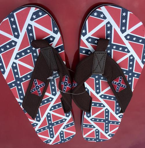 Confederate Flag Flip Flops