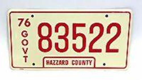 Govt 83522 License Plate (Rosco's Sheriff Car)