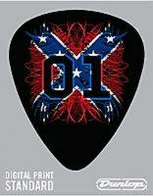 Guitar Pick 01 Confederate Flag