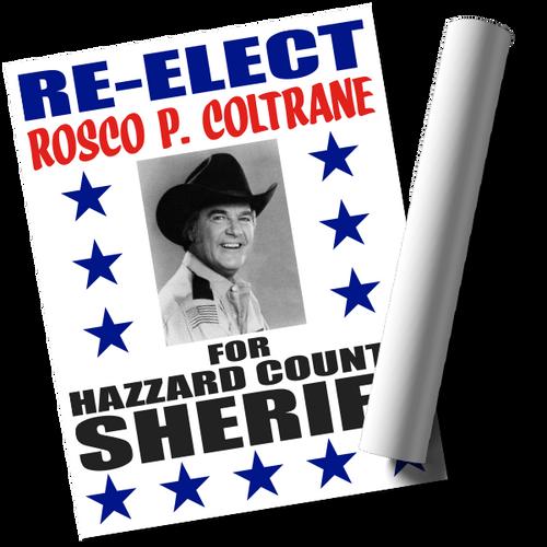 Re-Elect Rosco Print (22x17)