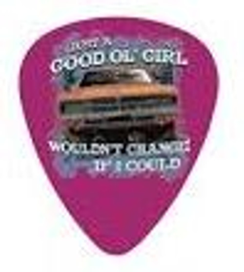 """Guitar Pick """"Wouldn't Change If I Could"""" Pink"""