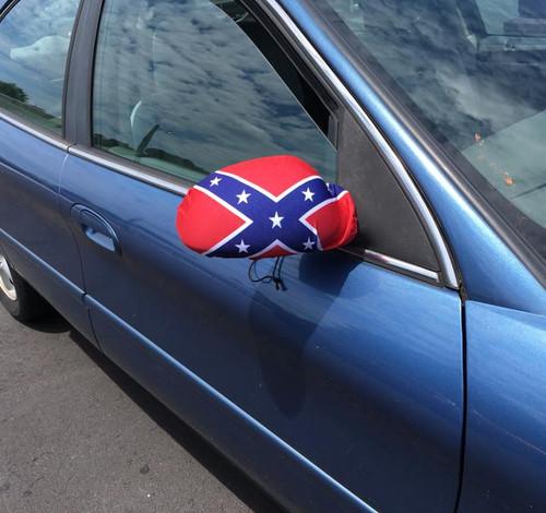 Rear View Mirror Cover Confederate Flag