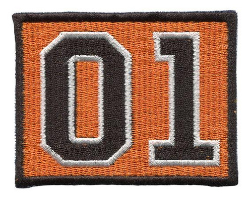 Orange 01 Iron On Patch