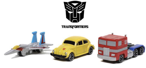 "Nano Hollywood Rides - 1.65"" G1 Transformers (3-Pack)"