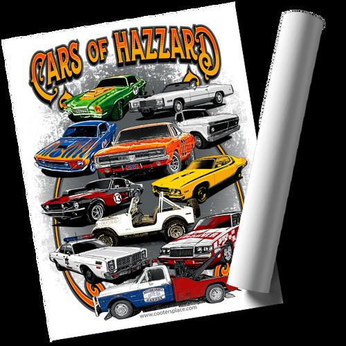 Cars of Hazzard Print (22x17)