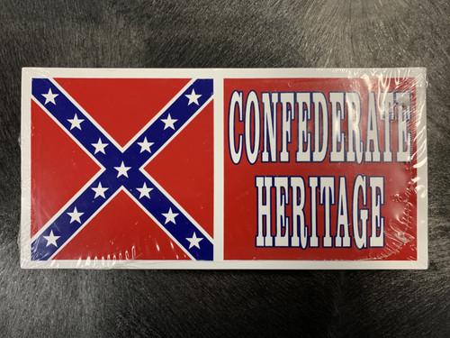 Confederate Heritage Bumper Sticker-