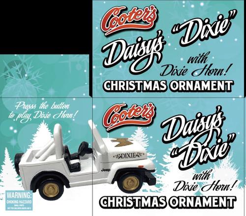 Daisy's Dixie Christmas Ornament W/Dixie Horn