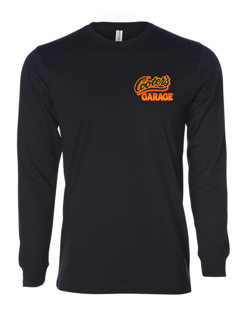 Cars of Hazzard Long Sleeve T-Shirt Black Front