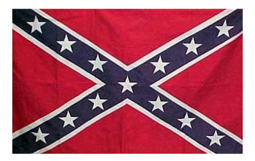 MADE IN USA - CONFEDERATE  3'X5' Flag POLYESTER (Come with flag, hat pin & sticker)
