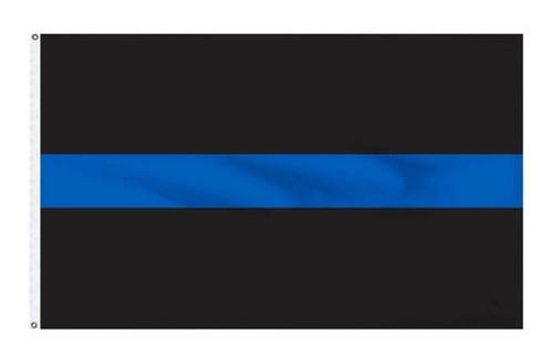 BLUE LINE Flag 3x5 Poly