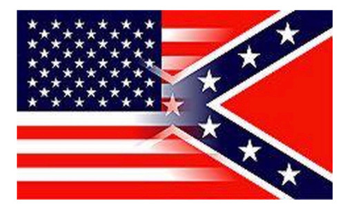 USA & Confederate Blended - Rebel Flag 3x5 Polyester