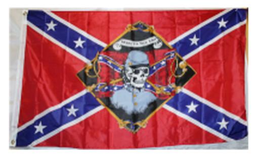 Rebel Till The End - Rebel Flag 3x5 Polyester