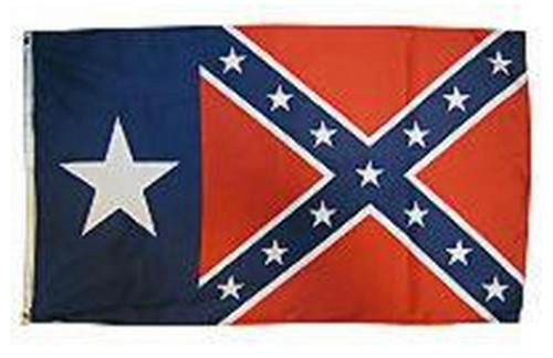 Texas  - Confederate Flag 3x5 Polyester