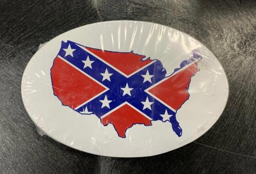 Confederate USA OVAL Bumper Sticker